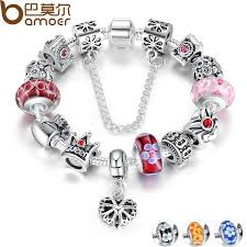 charms bead bracelet images Bamoer queen jewelry silver charms bracelet bangles with queen jpg