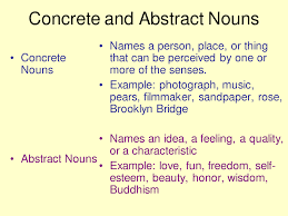 quote definition noun abstract nouns my english blog