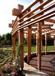 Trellis Structures Pergolas Wall Mounted Pergola In Wood Fabric Canopy Pergolavela