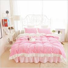 Twin Bedding Sets Girls by Luxury Cotton Duvet Cover Bedding Sets Kawaii Bed Skirt Set For