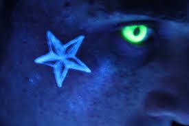 Black Light Tattoos Black Light Tattoo Uv Nautical Star Tattoo