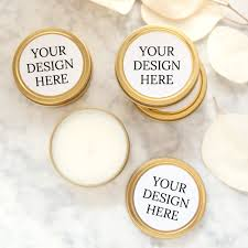 personalized candle favors custom wedding favor candle your design foxblossom co