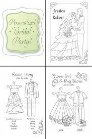 wedding coloring book kids wedding favors personalized u0026