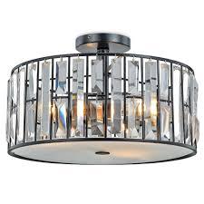 kitchen semi flush lighting decor living tomas 3 light black crystal semi flush mount 24601fm