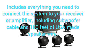 orb audio mini 5 1 home theater speaker system review youtube