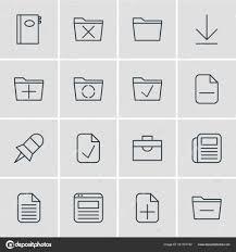supprimer icone bureau illustration vectorielle de 16 icônes de bureau pack modifiable du