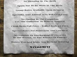 house rules design shop hanover 657 old west brothel tombstone whore house rules novelty aged