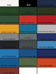 paint colour charts ral colours british standard bs 4800