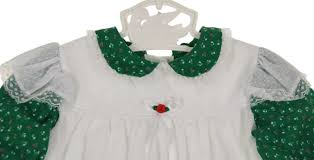 Vintage Style Baby Clothes Vintage Bryan Green Flowered Pinafore Dress Vintage Green Pinafore