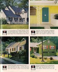 House And Shutter Color Combinations by Exterior Colors For 1960 Houses Retro Renovation