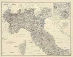 Map Northern Italy by File Northern Italy 1861 Jpg Wikimedia Commons