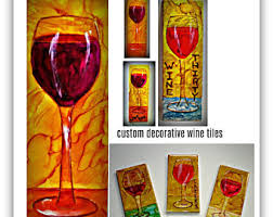 Wine Glass Wall Decor Wine Wall Decor Etsy