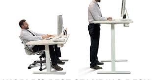 smart standing desk world u0027s best sit stand desk indiegogo