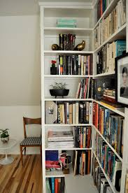 modern white diy record shelving can be applied on the wooden