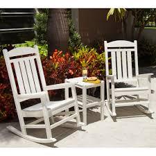 Jefferson Rocking Chair Polywood Presidential Rocker 3 Piece Set Pw Rocker Set1