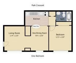 1 bedroom apartment square footage floorplan park crescent apartments 1 bedroom 1 bath 550 square feet