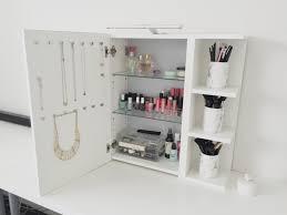 use ikea lillången mirror cabinet as a vanity mirror with storage