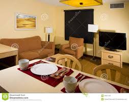 studio apartment kitchen dining living space stock image image