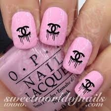 nail art dripping cc logo nail water decals water slides