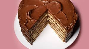 yellow layer cake with chocolate u2013sour cream frosting recipe bon