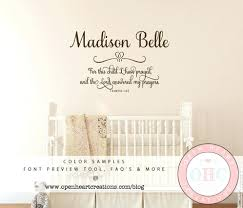 Scripture Wall Decals For Nursery Scripture Wall Decals For Nursery For This Child I Prayed Wall