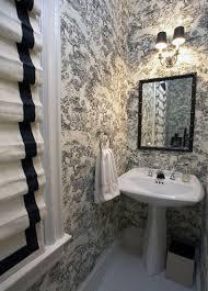 Roman Shades Black - black and white roman shades transitional bathroom patrick j
