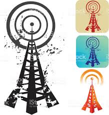 Radio Tower For Internet A Cartoon Vector Of A Wireless Radio Tower Stock Vector Art