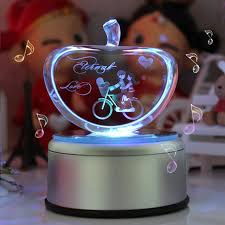 apple box ornaments led light rotating customized