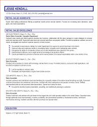 Resume Description For Sales Associate Resume Examples For Retail With No Experience Augustais