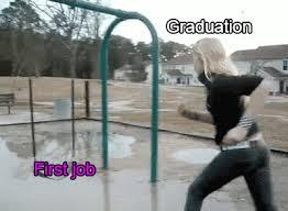 Funny Meme Gifs - animated gif graduation and first job viral viral videos