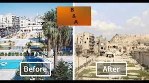 syria before and after war torn syria before and after youtube
