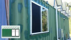 shipping container house u2013 second kitchen window youtube
