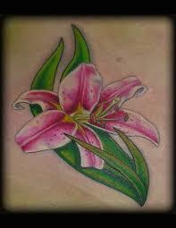 small stargazer lily tattoo design for girls tattoomagz