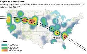 Atlanta International Airport Map Airfares To Solar Eclipse Destinations Soar To Astronomical Levels