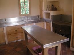 plan de travail cuisine en zinc plan de travail en zinc pour cuisine idées décoration intérieure