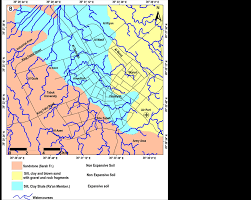 map of tabuk integrating geotechnical investigation with hydrological modeling