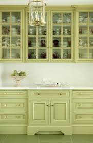 pretty green kitchen cabinets paint the inside of your cupboards