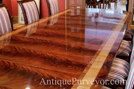 13 foot mahogany dining table antique style reproduction