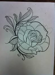 rose flower outlines tattoo design best tattoo designs
