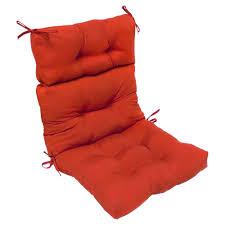 High Back Patio Chairs by High Back Patio Chair Cushion Outdoor Garden Furniture Red Salsa
