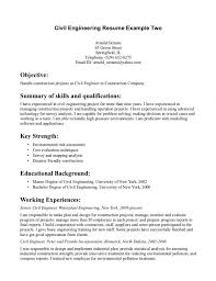 civil engineer resume sample template billybullock us