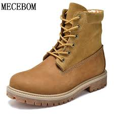 s boots lace s yellow work boots winter genuine leather ankle boots