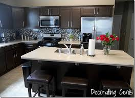 maple cabinets with dark counters mom and dads kitchen remodelaholic sleek dark chocolate painted cabinets