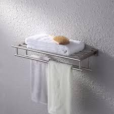 amazon com kes bathroom bath towel rack with double towel bar 24