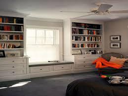 built in bookshelves around window home decorating interior