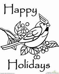 Happy Winter Holidays Coloring Pages Murderthestout Happy Coloring Pages