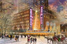 radio city music hall u2013 limited edition art the thomas kinkade