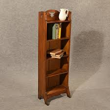 small narrow bookcase antique bookcase book stand narrow arts crafts solid english oak
