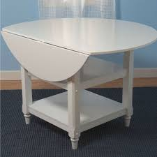 round dual drop leaf dining table 48 inch round dual drop leaf dining table in white wood finish