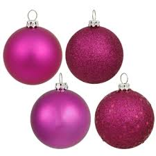 copper colored plastic 3 inch 4 finish assorted ornaments pack of